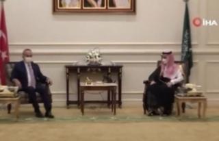 Dışişleri Bakanı Çavuşoğlu, Suudi Arabistanlı...