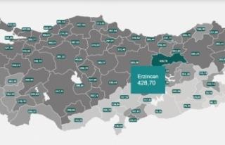 Doğu Anadolu'da vaka sayısının en yüksek olduğu...