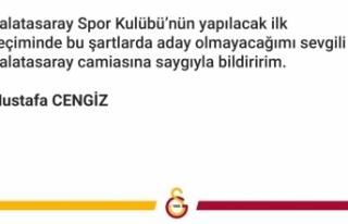 Galatasaray Başkanı Mustafa Cengiz aday olmayacak