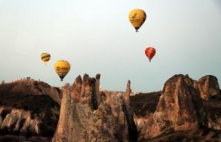 Kapadokya bölgesini Nisan ayında 74 bin turist ziyaret...