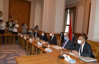 Türk ve Mısır heyetleri arasındaki siyasi istişareler...
