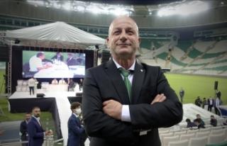 Bursaspor'da yeni başkan Hayrettin Gülgüler...