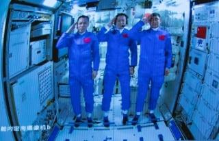 """Çin uzay istasyonunun çekirdek modülü """"Tianhe""""..."""