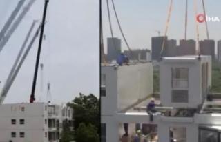Çinli şirket 28 saatte 10 katlı bina inşa etti