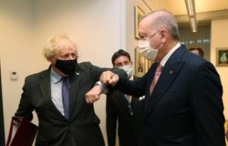 Cumhurbaşkanı Erdoğan, İngiltere Başbakanı Johnson...