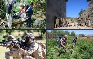Diyarbakır'da narkoterör operasyonlarıyla...