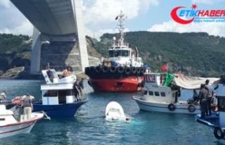 İstanbul Boğazı'nda gemi ile tekne çarpıştı