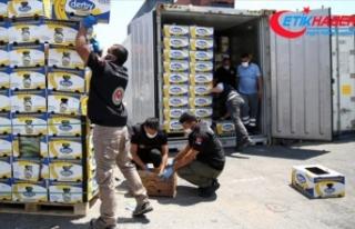 Mersin Limanı'ndaki operasyonda 150 kilo daha...