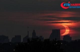 NASA duyurdu: Güneş tutulması başladı