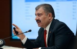 Sağlık Bakanı Fahrettin Koca, haftalık vaka haritasını...