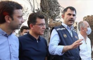 Çevre ve Şehircilik Bakanı Kurum: Yangında evleri...