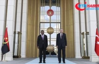 Cumhurbaşkanı Erdoğan, Angola Cumhurbaşkanı Lourenço'yu...