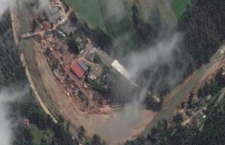 Felaketin vurduğu Schuld köyü uydu fotoğrafı...