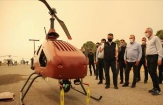 İnsansız helikopter, Manavgat yangınlarıyla mücadelede...