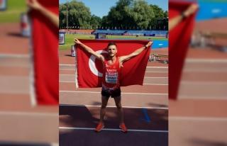 Milli atlet Mert Kahraman'dan Avrupa 20 Yaş...