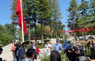 Ömer Halisdemir'in mezarı, ziyaretçi akınına...