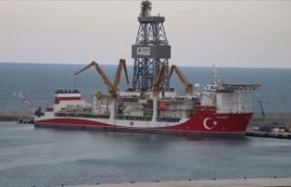 Sakarya Gaz Sahası'ndaki Türkali-2 tespit kuyusunda...