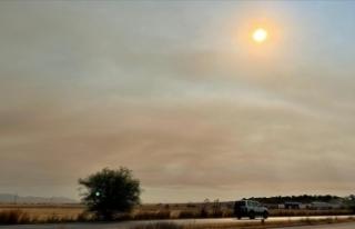 Türkiye'deki orman yangınlarının etkisi KKTC'de...