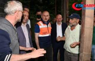 Ulaştırma ve Altyapı Bakanı Karaismailoğlu, Artvin'de...