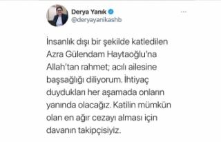 Bakan Yanık: (Azra Gülendam Haytaoğlu davası)...
