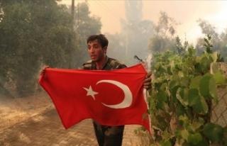 Marmaris'te orman yangınında görevli Azerbaycanlı...