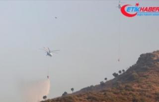Muğla'da devam eden 6 yangınla mücadelede...