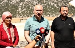 Ulaştırma ve Altyapı Bakanı Karaismailoğlu: Yangını...