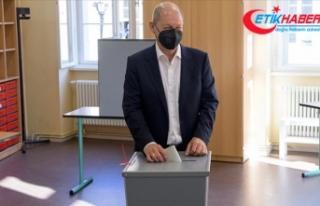 Almanya'daki genel seçimlerden Sosyal Demokrat...