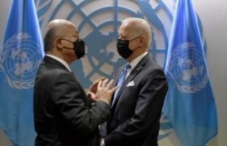 Irak Cumhurbaşkanı Salih, ABD Başkanı Biden ile...