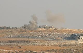 Terör örgütü PKK/PYD Azez'in Maarin köyüne...