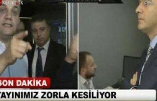 Kanaltürk ve Bugün TV'nin ana kumanda odasında...