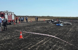 Tekirdağ'da sivil eğitim uçağı düştü: 2...