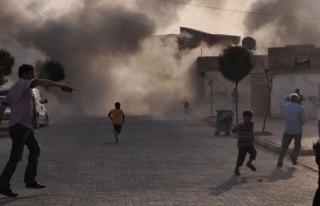 IŞİD'in attığı havan mermisi, Elbeyli'ye düştü