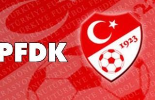 PFDK'dan ceza yağdı