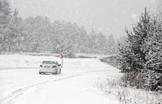 Ardahan'da kar yağışı ve sis