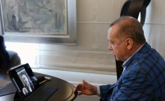 Cumhurbaşkanı Erdoğan, yeni Bakan ile video konferans yöntemiyle görüştü