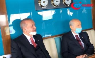 Cumhurbaşkanı Erdoğan ile MHP Lideri Bahçeli Demokrasi ve Özgürlükler Adası'nda