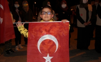 Nevşehir'de Filistin'e destek gösterisi