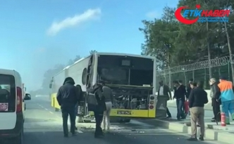 Başakşehir'de İETT otobüsünde korkutan yangın!