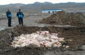 Kayseri'de 30 ton kaçak et ele geçirildi, imha edildi