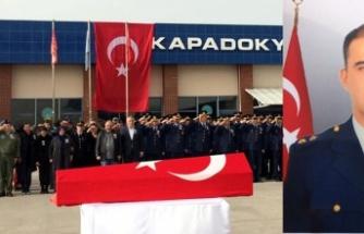 Şehit Pilot Üsteğmen, Nevşehir'den uğurlandı