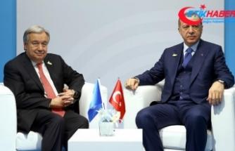 Cumhurbaşkanı Erdoğan ile BM Genel Sekreteri Guterres görüştü