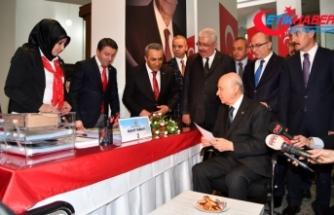 MHP Lideri Bahçeli milletvekilliği adaylık başvurusunu yaptı