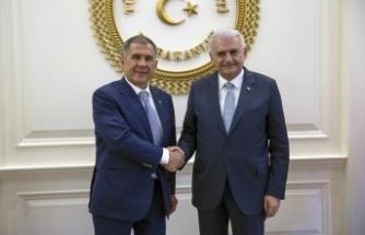 Yıldırım Tataristan Cumhurbaşkanı ile bir araya geldi