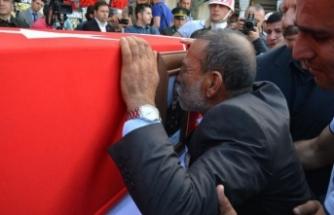 Şehit Uzman Çavuş Mehmet Türken'i ikizleri uğurladı