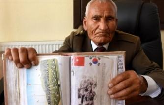 Kore gazisi 66 yıllık üniformasını özenle saklıyor