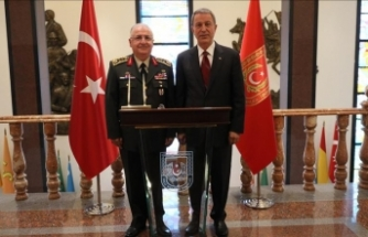 Milli Savunma Bakanı Akar, Orgeneral Güler'i ziyaret etti