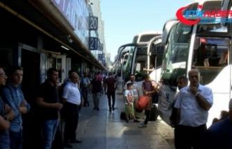 Bayram öncesi otobüs biletleri tükendi