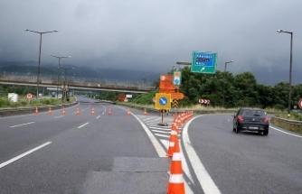 Anadolu Otoyolu Kaynaşlı-Abant kavşakları ulaşıma kapatıldı