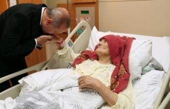 Cumhurbaşkanı Erdoğan'dan 100 yaşındaki Nazmiye Balcı'ya ziyaret